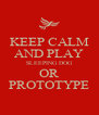KEEP CALM AND PLAY SLEEPING DOG OR PROTOTYPE - Personalised Poster A4 size