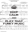 KEEP CALM AND PLAY THAT FUNKY MUSIC - Personalised Poster A4 size