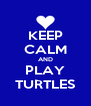 KEEP CALM AND PLAY TURTLES - Personalised Poster A4 size