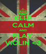 KEEP CALM AND PLAY VIOLIN <3 - Personalised Poster A4 size