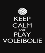 KEEP CALM AND PLAY VOLEIBOLIE - Personalised Poster A4 size