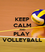 KEEP CALM AND PLAY  VOLLEYBALL - Personalised Poster A4 size