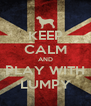 KEEP CALM AND PLAY WITH LUMPY - Personalised Poster A4 size