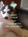 KEEP CALM AND PLAY WITH ME ALREADY! - Personalised Poster A4 size
