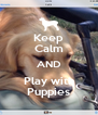 Keep Calm AND Play with Puppies - Personalised Poster A4 size