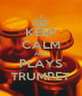 KEEP CALM AND PLAYS TRUMPET - Personalised Poster A4 size
