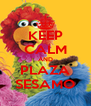 KEEP CALM AND PLAZA SESAMO - Personalised Poster A4 size