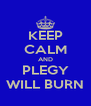 KEEP CALM AND PLEGY WILL BURN - Personalised Poster A4 size