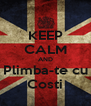 KEEP CALM AND Plimba-te cu Costi - Personalised Poster A4 size