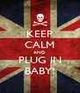 KEEP CALM AND PLUG IN BABY! - Personalised Poster A4 size