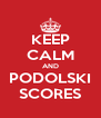 KEEP CALM AND PODOLSKI SCORES - Personalised Poster A4 size