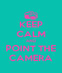 KEEP CALM AND POINT THE CAMERA - Personalised Poster A4 size