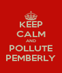KEEP CALM AND POLLUTE    PEMBERLY    - Personalised Poster A4 size