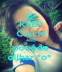 KEEP CALM AND pooôde ollhar *o*  - Personalised Poster A4 size
