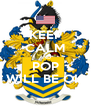 KEEP CALM AND POP WILL BE OK - Personalised Poster A4 size