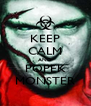 KEEP CALM AND POPEK MONSTER - Personalised Poster A4 size