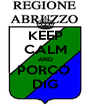 KEEP CALM AND PORCO  DIG - Personalised Poster A4 size