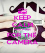 KEEP CALM AND POSE FOR THE  CAMERA - Personalised Poster A4 size
