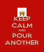 KEEP CALM AND POUR ANOTHER - Personalised Poster A4 size