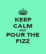 KEEP CALM AND POUR THE FIZZ - Personalised Poster A4 size