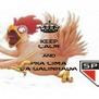 KEEP CALM AND PRA CIMA DA GALINHADA - Personalised Poster A4 size