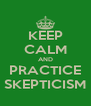 KEEP CALM AND PRACTICE SKEPTICISM - Personalised Poster A4 size