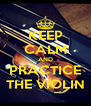 KEEP CALM AND PRACTICE THE VIOLIN - Personalised Poster A4 size