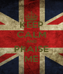 KEEP CALM AND PRAISE ME - Personalised Poster A4 size