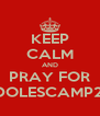 KEEP CALM AND PRAY FOR #ADOLESCAMP2012 - Personalised Poster A4 size