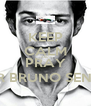 KEEP CALM AND PRAY FOR BRUNO SENNA - Personalised Poster A4 size