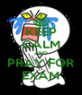 KEEP CALM AND PRAY FOR EXAM - Personalised Poster A4 size