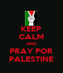 KEEP CALM AND PRAY FOR PALESTINE - Personalised Poster A4 size