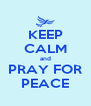KEEP CALM and PRAY FOR PEACE - Personalised Poster A4 size