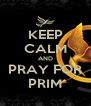 KEEP CALM AND PRAY FOR PRIM - Personalised Poster A4 size
