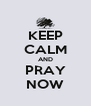 KEEP CALM AND PRAY NOW - Personalised Poster A4 size