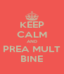 KEEP CALM AND PREA MULT BINE - Personalised Poster A4 size