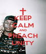 KEEP CALM AND PREACH UNITY - Personalised Poster A4 size