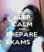 KEEP CALM AND PREPARE EXAMS :(  - Personalised Poster A4 size
