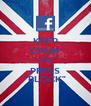 "KEEP CALM AND PRESS ""BLOCK"" - Personalised Poster A4 size"