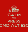 KEEP CALM AND PRESS CMD ALT ESC - Personalised Poster A4 size