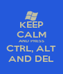 KEEP CALM AND PRESS CTRL, ALT AND DEL - Personalised Poster A4 size