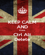 KEEP CALM AND Press Ctrl Alt Delete - Personalised Poster A4 size