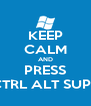 KEEP CALM AND PRESS CTRL ALT SUPR - Personalised Poster A4 size