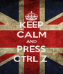 KEEP CALM AND PRESS CTRL Z  - Personalised Poster A4 size