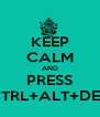 KEEP CALM AND PRESS CTRL+ALT+DEL - Personalised Poster A4 size