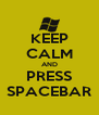 KEEP CALM AND PRESS SPACEBAR - Personalised Poster A4 size
