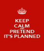 KEEP CALM AND PRETEND IT'S PLANNED - Personalised Poster A4 size
