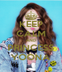 KEEP CALM AND PRINCESS YOONA - Personalised Poster A4 size