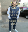 KEEP CALM AND Priozersk ON - Personalised Poster A4 size