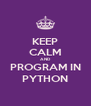 KEEP CALM AND PROGRAM IN PYTHON - Personalised Poster A4 size